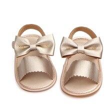 Летние детские сандалии; обувь для девочек; Модный полиуретановый бант; сандалии для девочек; милая детская обувь; пляжные сандалии для девочек