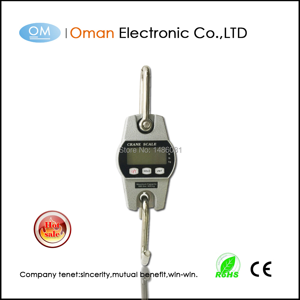 Oman T300A Mini 400kg weighing hanging scale weighing 100kg mini weighing scale crane with white back light