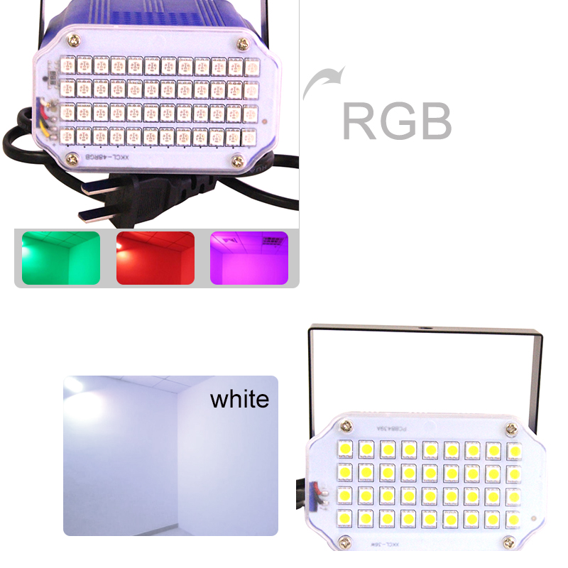 Factory price Mini led Stage Lighting Effect Lamp Head Light Disco Flash 36/48 LED for DJ Disco Party KTV room strobe Light home entertainment new mini stage lamp beautiful lighting projector 3w led projection lamp low price high quality ktv party lamp