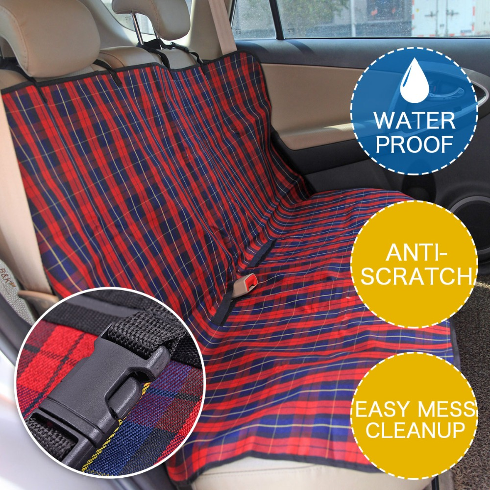 Pet Carriers Car Seat Cover Durable Dog Cats Car Blanket Hammock Oxford Dog Cushion Protector For Travel Pet Back Protector