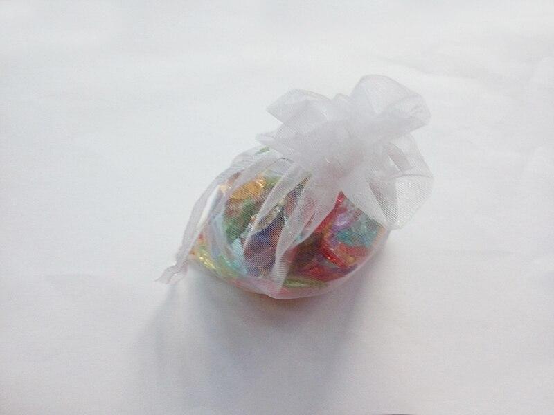 2000 stks 9*12 Wit gift tassen voor sieraden/bruiloft/kerst/verjaardag Organza Zakken met handvatten verpakking Garen zak-in Geschenktasjes & Inpak Benodigheden van Huis & Tuin op  Groep 1