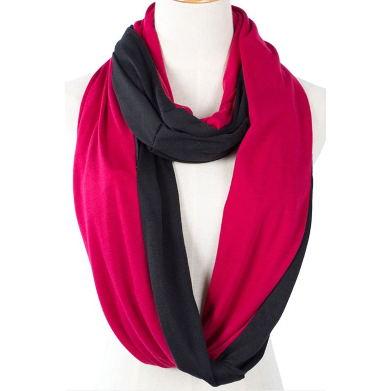 Womens Two Color Infinity Fashion   Scarves     Wrap   Hidden Zipper Pocket ,Travel   Scarf