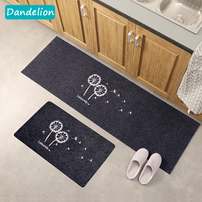 US $6.86 40% OFF Doormat Kitchen Carpet Rubber Floor Mats Dandelion Simple  Style Entrance Home Decor Rug Anti Slip-in Mat from Home & Garden on ...