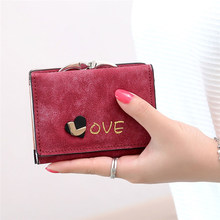 Love Frosted Women Wallets Fashion Brand New Design High Quality Wallet Female Hasp Dollar Price Long Women Wallets And Purses