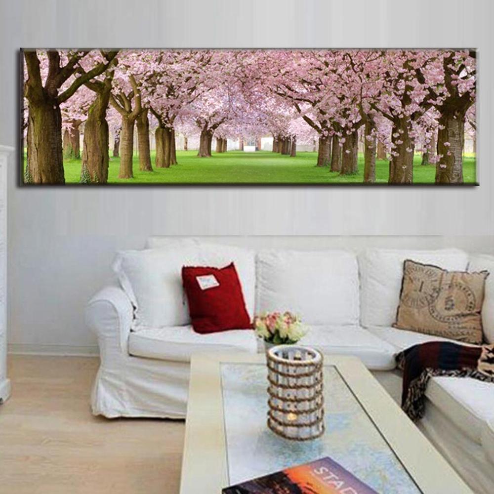 Online kopen wholesale kersenbloesem canvas uit china ...