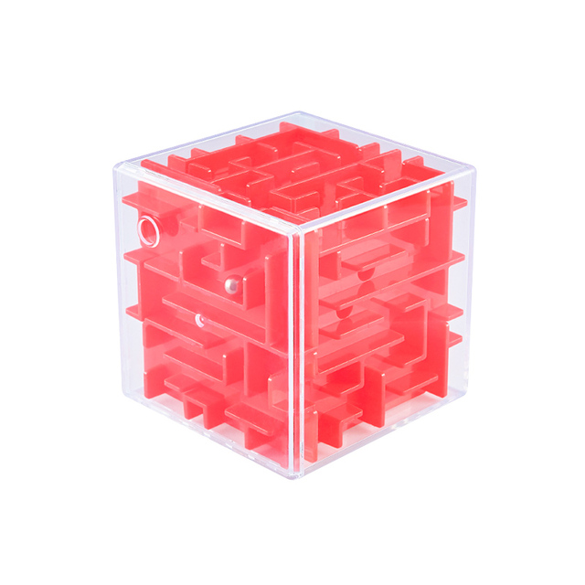 Intellect Magic Cube Box 3D Cube Puzzles Games Steel Ball Maze Toy Hand Fun Balance Challenge Game Toys For Kids Gift 4