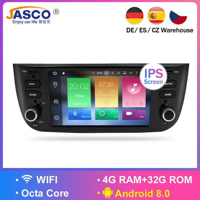 Android 7.1 Car Stereo DVD Player GPS Glonass Multimedia for Fiat Grande Punto Linea 2012 2013 2014 2015 Audio RDS Radio Stereo