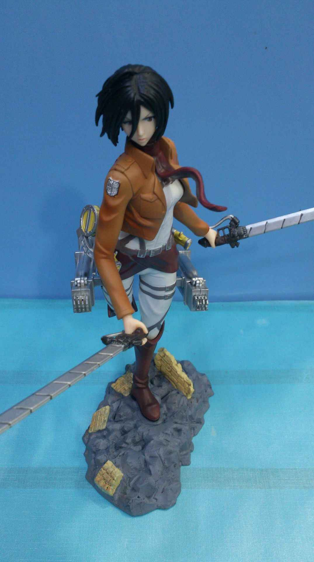 25 cm JG Chen Frete Grátis Anime Figma Attack on Titan Mikasa Ackerman PVC Action Figure Collectible Modelo Toy