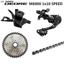 SHIMANO DEORE M6000 Группа Комплект горного велосипеда MTB 1x10-Speed 11-42T M6000 задний переключатель рычаг переключения передач
