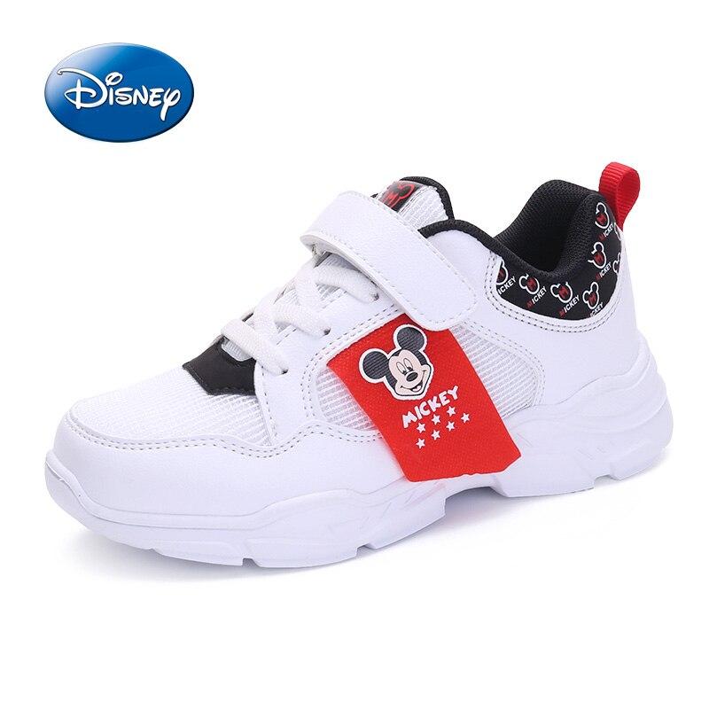 Disney chaussures enfants chaussures garçons filles baskets 2019 printemps automne respirant en cuir garçons filles chaussures de sport décontractée taille 31-37