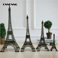 1pcs Miniature Eiffel Tower Paris Tower Home Furnishing Decorative Gift Model Of Metal Ornaments Home Decoration Accessories