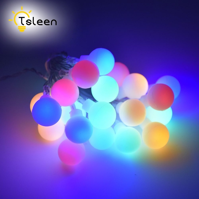 tsleen 7m 50 led ball string lights solar powered christmas light patio lights lighting for home