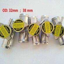"""OD 32 мм/38 мм 1,2"""" /1,5"""" полированный алюминиевый шланг радиатора заливной горловины/крышки в линии шланг+ крышка радиатора"""