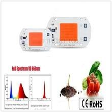 LED COB Chip For Grow Plant Light Full Spectrum 220V 110V 20W 30W 50W For Indoor Plant Seedling Grow and Flower Growth Lighting 1pcs lot sh b17 50w 220v to 110v 110v to 220v