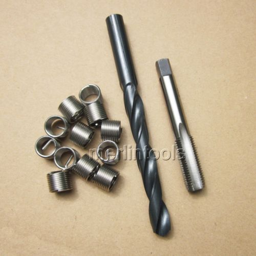 Broca e Toque Inserções de Rosca Roscas Helicoil 12 Fina M10 x 1