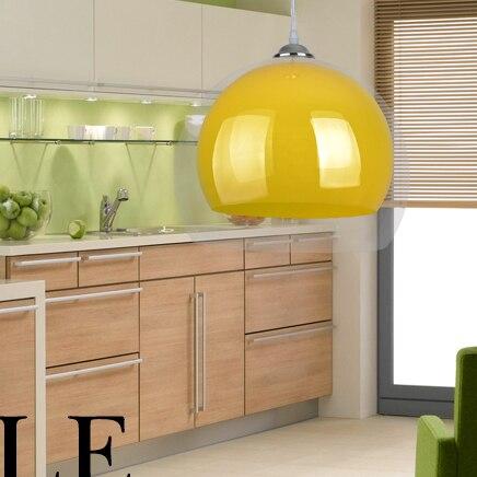 Double suspension de cordon acrylique à l'extérieur transparent à l'intérieur de la lampe suspendue colorée café bar restaurant lampes suspendues modernes - 3
