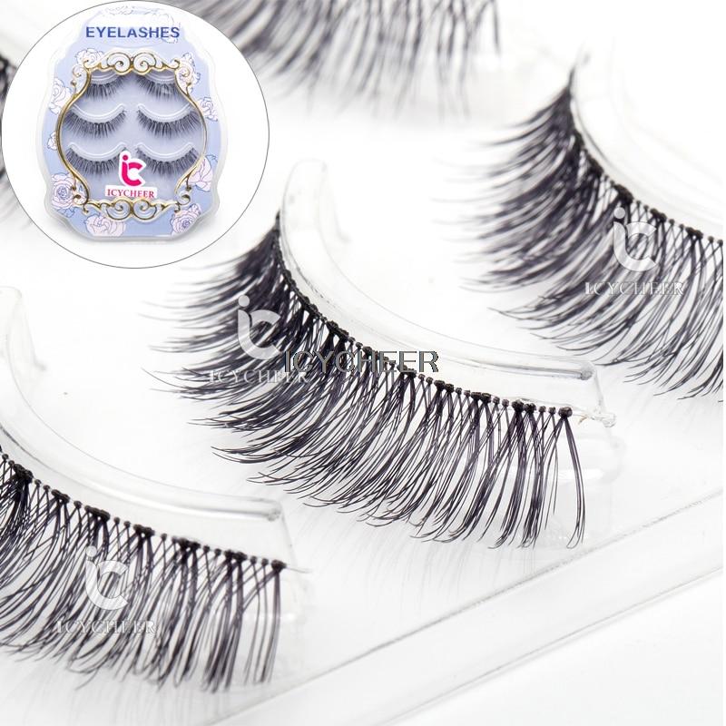 Beauty & Health Icycheer Fashion 3d Mink Natural Thick Fake Eyelashes Black Handmade Mussy Soft Eye Lashes
