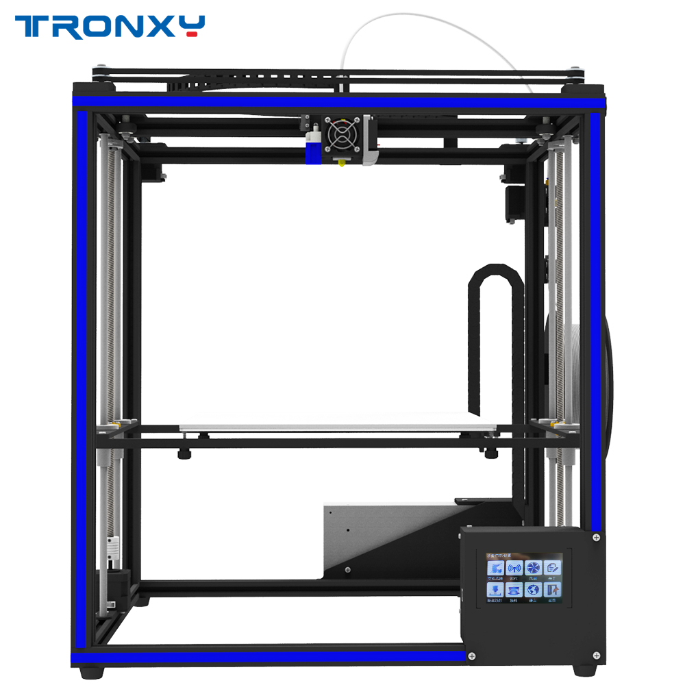 Tronxy X5SA design DIY 3d Printer kit Full metal with Touch screen and Auto level Big Size Touch screen and Auto leveling 9inch touch screen cable dh 0926a1 fpc080 noting size and color