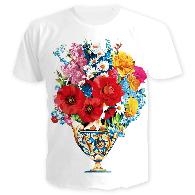 Short Plant Style Shirts Men 20Off 2018 Shirt 59 Quality Hot Cool Women Tops Summer Tee Print In Flower Potted High 3d Us9 From T ikuXZPOT