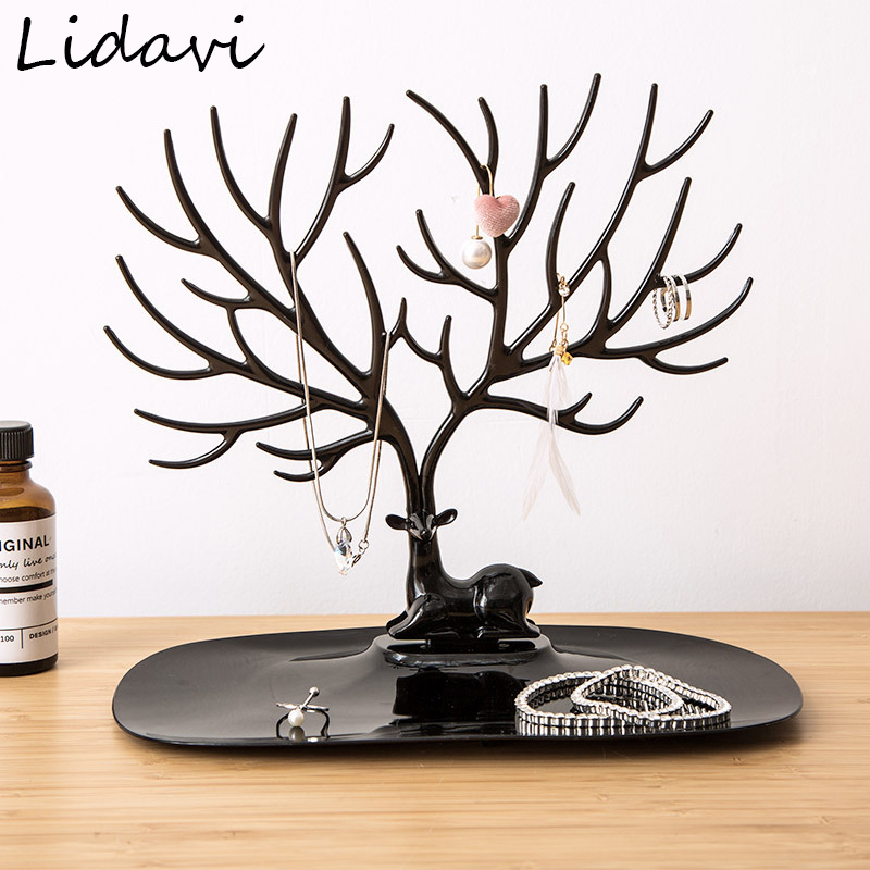 Lidavi Newest Necklace Earring Deer Stand Display Fashion Jewelry Show Rack Display Jewellery For Seller Exhibition High Quality