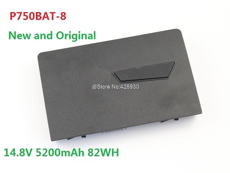 Laptop Battery For CLEVO P750ZM P751ZM P771ZM P770ZM P775DM3-G P770ZM-G P750BAT-8 14.8V 5200mAh 82WH 6-87-P750S-4U74 New hot sale original quality new laptop battery for clevo d450tbat 12 d450t 87 d45ts 4d6 14 8v 6600mah free shipping