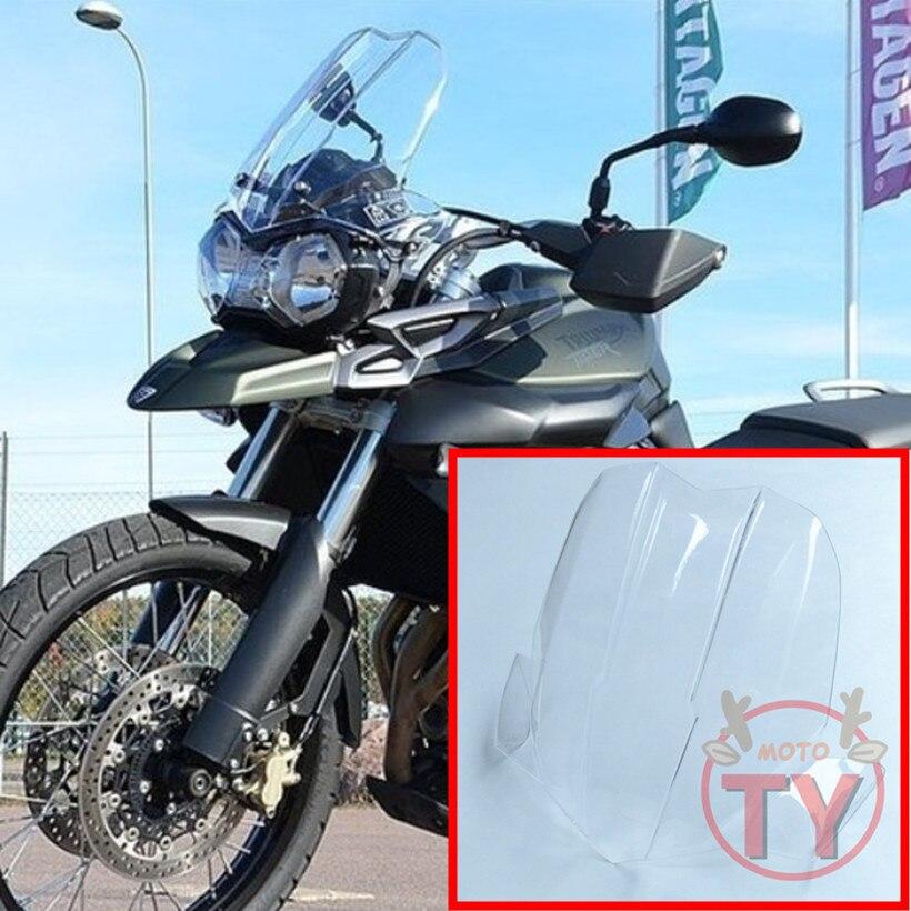 Мотоцикла для TRIUMPH TIGER800XC 800XC TIGER 800 XC лобовое стекло Bubble ветрового стекла дым черный прозрачный акриловый ветер Deflectore
