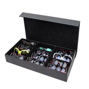 Image 1 - HUNYOO 12 ตารางแว่นตากันแดดจัดเก็บกล่องแว่นตาผู้ถือขาตั้งแว่นตากล่องแว่นตากันแดด
