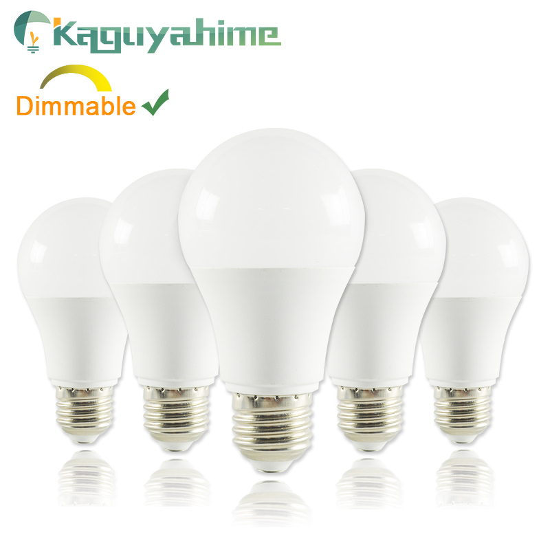 Kaguyahime E27 E14 LED Bulb 1pc/5pcs 6W 15W High Brightness 220V E27 LED Lamp LED Dimmable Bulb Lampadas Lamparas Bombillas