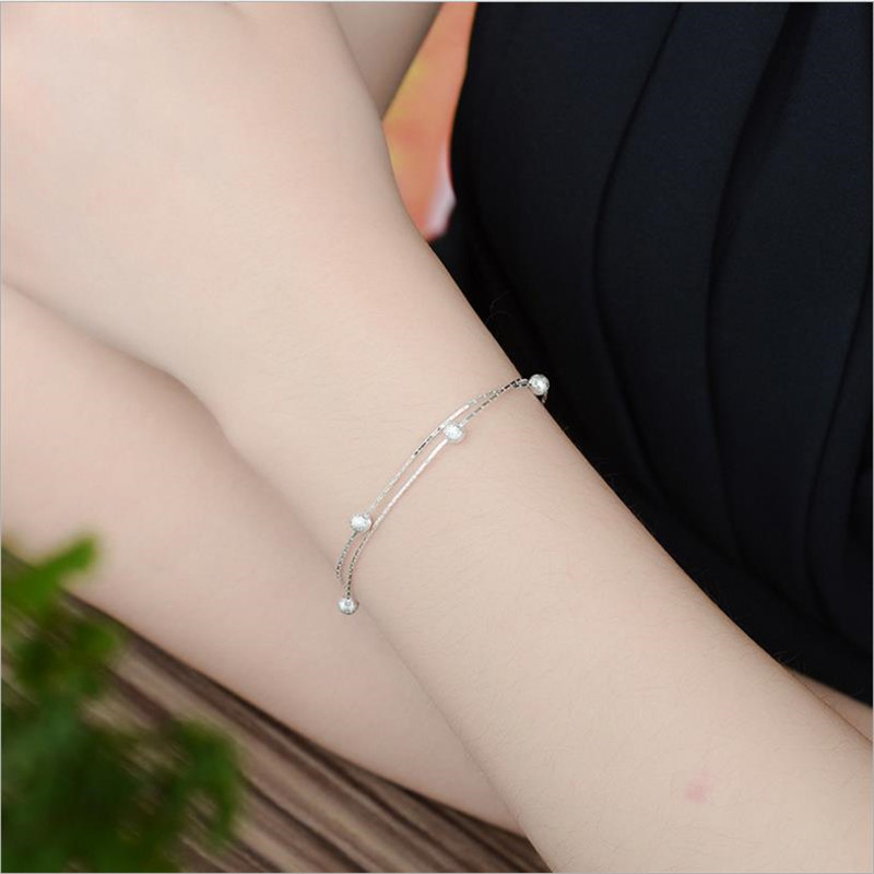 Latest 5 Frosted Balls Silver Bracelets For Women Accessories Trendy Anklets Girl Jewelry Lady Christmas Anklet Female