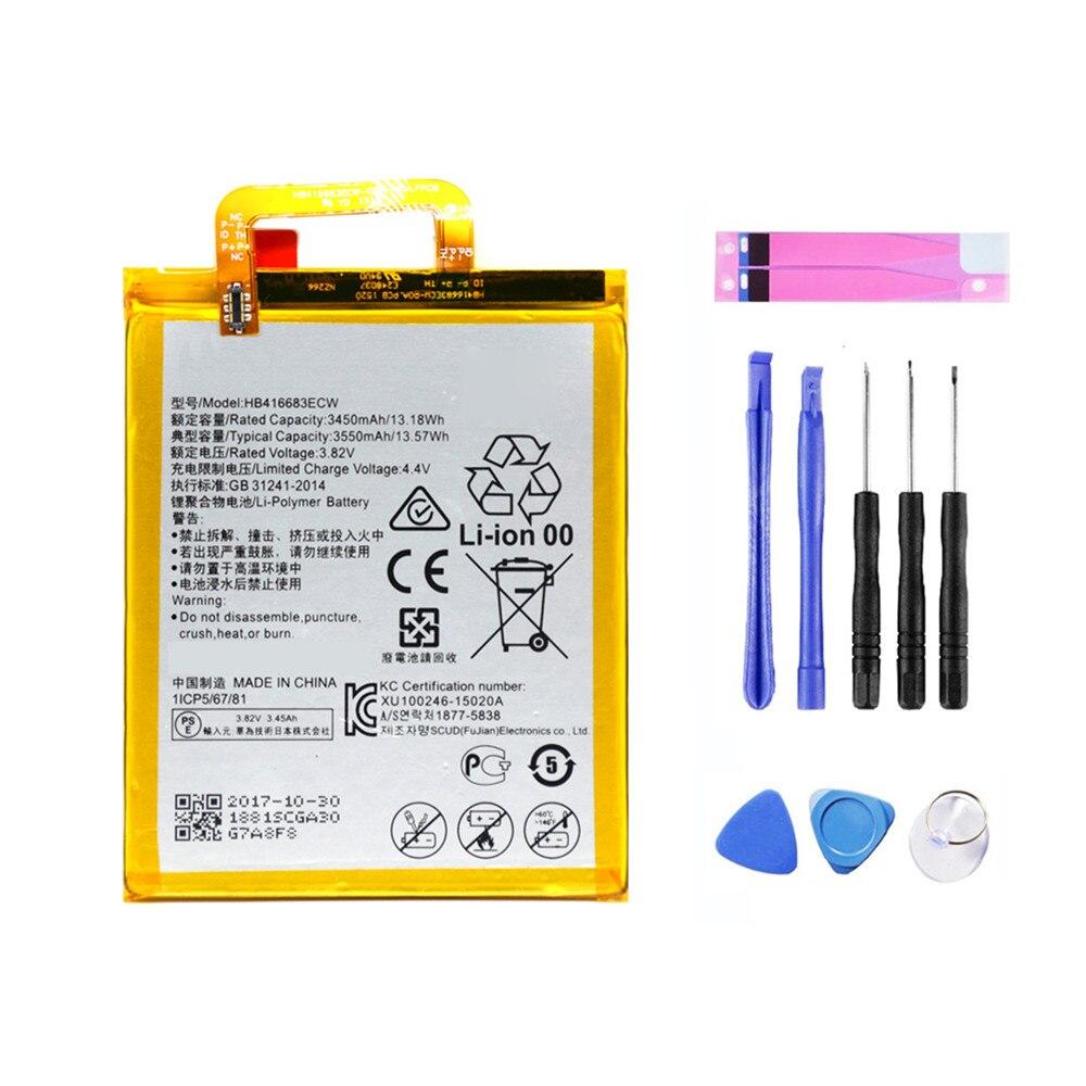 HB416683ECW Nouvelle Batterie De Remplacement Pour Huawei Nexus 6 p H1511 H1512 Téléphone Haute Capacité Batteria 3550 mah + Gratuit outils