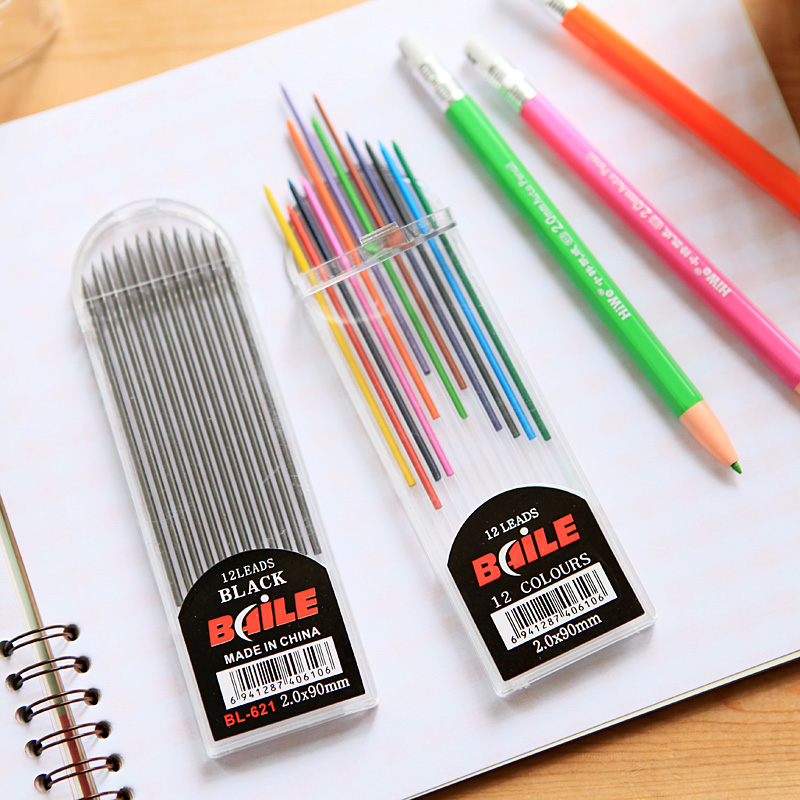 sweet time baile stationery pencil 2b mechanical pencil lead refill