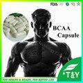BCAA aminoácidos de cadeia ramificada constrói a força e tremendo transporte rápido 700 pcs 500 mg cápsula