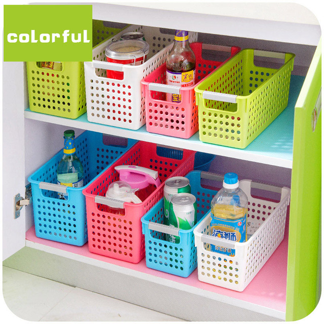 Japanese Style Stackable Plastic Storage Baskets/Bins Organizer Fruit Toys  Clothes Glove Box Debris