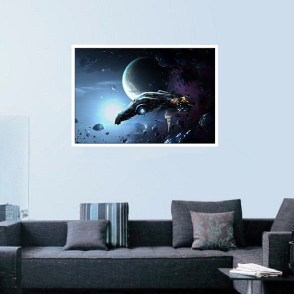 XQL 1 piece of wall Art Outer space shuttle Abstract Painting Canvas ...