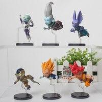 6 Pcs Set Anime Dragon Ball Super Figurine Goku Beerus Whis Frieza Pvc Collection Model Figure