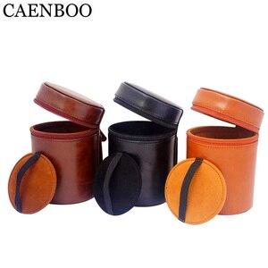 Image 3 - CAENBOO – sac à lentilles rétro dur en cuir PU, étui pour Canon, Nikon, Sony, Pentax, Fujifilm, Tamron, Sigma, pochette de protection universelle