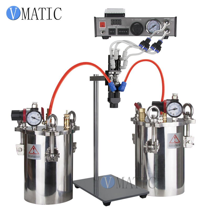 Free Shipping Semi Auto Glue Dispenser AB Mixing Doming Liquid Glue Dispensing Machine Equipment for Epoxy Resin купить недорого в Москве