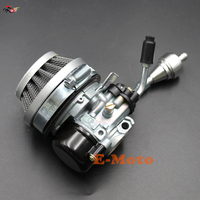 2 Stroke Carburetor & Air Filter CNC Silvery Fuel Filters For 49cc 50 60 66 80cc Motorized Bike Bicycle E Moto