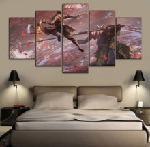 5 Pieces Game Sekiro Shadows Die Twice Painting Modern Wall Art Home Decorative Picture Framework Canvas HD Print Modular Poster