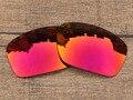 Огненно-Красный Зеркало Поляризованных Сменные Линзы Для Скальпеля Солнцезащитные Очки Кадров 100% UVA и UVB Защиты