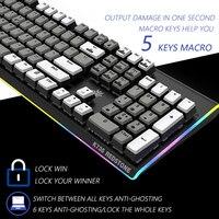 HEXGEARS Gaming Mechanical Keyboard Backlight Clavier Gamer PBT Key Cap for csgo Dota 2 USB RGB Kailh Box Switch Gamer Klavye