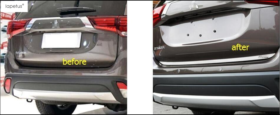 Accessories For Mitsubishi Outlander 2013 2017 Rear Trunk Tailgate Door Tail bottom Lid Streamer Molding Cover