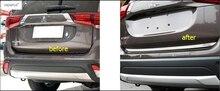 Интимные аксессуары для Mitsubishi Outlander 2013-2017 задний багажник багажника Дверь хвост Нижняя крышка стример литья комилект Отделка 1 шт.