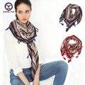 2016 hot sale da moda mulher 110*110 cm Lenço de algodão e linho lenços quadrados curto geométrica borla Das Mulheres de Inverno xales senhora