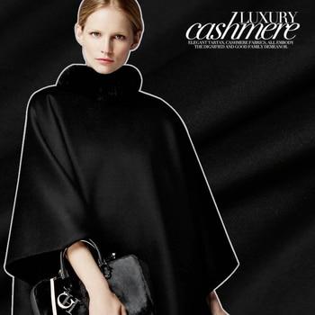 Offre Spéciale Haut De Gamme Court Doux Cachemire Laine Tissu Pour Manteau Classique Pur Noir Tissus Fins Tissu Au Mètre Tissu Lumineux Bricolage