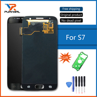 Original Super AMOLED For Samsung Galaxy S7 G930 G930F LCD Display Touch Screen Parts Replacement Black