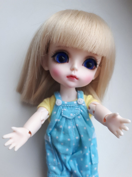 1/8 BJD Doll LOVELY Cute Happy Resin Joint Doll With Eyes For Baby Girl Birthday Chrismas Gift