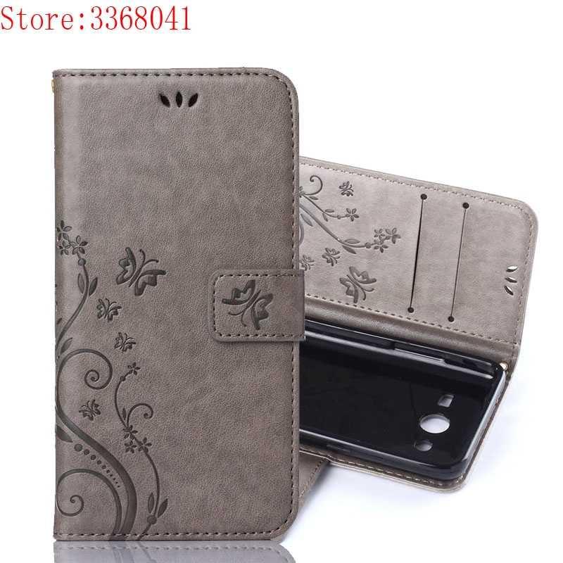 Флип чехол для samsung Galaxy Core 2 Duos G355h SM G355h/ds роскошный с бабочкой кожаный телефона