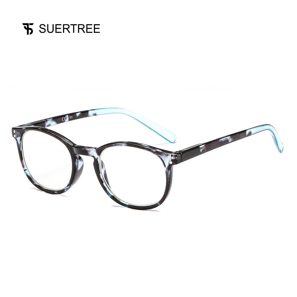 9c3ef17892209 SUERTREE Tortoise Quadro Leitores Óculos de Leitura Mulheres Homens Moda  óculos de Computador Azul Na Moda Primavera Dobradiça Óculos de Conforto  BM341