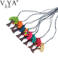 Life of Tree Pendant Necklace Collares Collier Colar Natural Wood Beads Joyeria Bijoux Bohemian Femme Kolye Colares necklaces